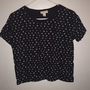 black and white t-shirt